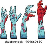 Cartoon Zombie Hands. Vector...