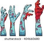 Cartoon Zombie Hands. Vector...