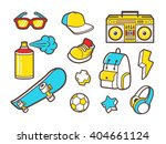 youth culture symbols  ... | Shutterstock .eps vector #404661124
