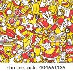 graffiti seamless pattern with... | Shutterstock .eps vector #404661139
