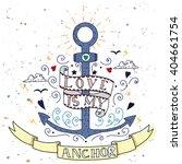 anchor  vintage label  hand... | Shutterstock .eps vector #404661754