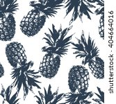 seamless pattern with pineapple ... | Shutterstock .eps vector #404664016
