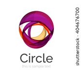 circle logo. transparent... | Shutterstock .eps vector #404676700