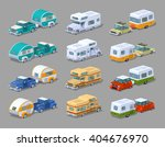 rv campers collection. 3d... | Shutterstock .eps vector #404676970