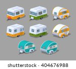 Isometric Rv Campers Collectio...