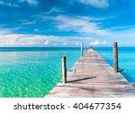 contemplating the sea calm... | Shutterstock . vector #404677354