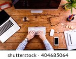 business person working at... | Shutterstock . vector #404685064