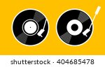 old music long play record  ... | Shutterstock .eps vector #404685478