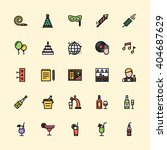party icons | Shutterstock .eps vector #404687629