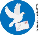 Dove Carrying Envelope Isolate...