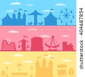 colorful set silhouette of... | Shutterstock .eps vector #404687854
