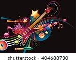 guitar on color musical... | Shutterstock .eps vector #404688730