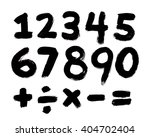 black painted brushed numbers... | Shutterstock . vector #404702404