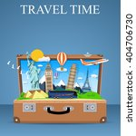 trip to world. travel to world. ... | Shutterstock .eps vector #404706730