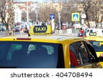 yellow taxi cabs waiting for a... | Shutterstock . vector #404708494