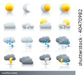 weather vector icon set  ... | Shutterstock .eps vector #40470982