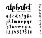hand drawn  handwritten vector... | Shutterstock .eps vector #404711659