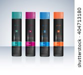 bottles  with sample labels for ... | Shutterstock .eps vector #404713180