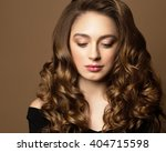 fashion portrait of young woman ... | Shutterstock . vector #404715598
