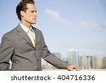 portrait of a businessman | Shutterstock . vector #404716336