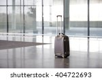 an unattended suitcase in... | Shutterstock . vector #404722693