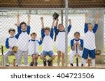 little league baseball team... | Shutterstock . vector #404723506