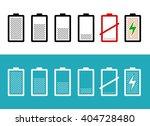 set of battery icons | Shutterstock .eps vector #404728480