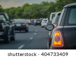 traffic jam with row of cars on ... | Shutterstock . vector #404733409