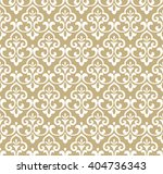 Floral Pattern Wallpaper Baroque Damask Seamless 404736343