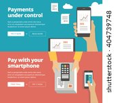 online   mobile payment website ... | Shutterstock .eps vector #404739748