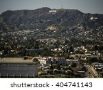 hollywood sign from downtown la | Shutterstock . vector #404741143