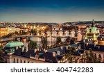 The Skyline Of Prague At...