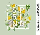 Floral Spring Graphic Design  ...
