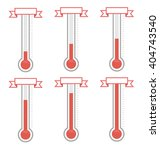 vector goal thermometers at... | Shutterstock .eps vector #404743540