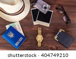 travel set  summer vacation ... | Shutterstock . vector #404749210