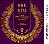 wedding invitation or card with ... | Shutterstock .eps vector #404751379