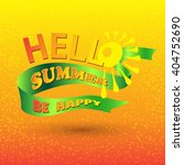vector lettering hello spring...   Shutterstock .eps vector #404752690
