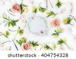 watercolor painting  roses... | Shutterstock . vector #404754328