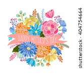 happy mothers day vector floral ... | Shutterstock .eps vector #404754664