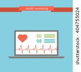 health monitoring signs using a ... | Shutterstock . vector #404755024