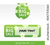big spring sale set. label with ... | Shutterstock . vector #404755060