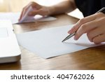 woman working with text | Shutterstock . vector #404762026