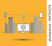 smart city vector design ... | Shutterstock .eps vector #404764276