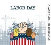 Labor Day Poster With A Hands...