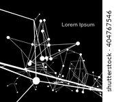 plexus atomic lattice in the... | Shutterstock .eps vector #404767546