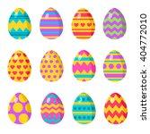 set easter eggs. vector...   Shutterstock .eps vector #404772010