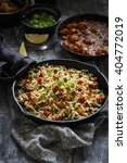 vegetable fried rice with... | Shutterstock . vector #404772019