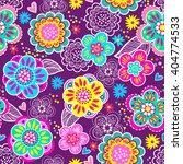 vector seamless geometric cute... | Shutterstock .eps vector #404774533