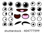 Vector Cute Cartoon Eyes And...