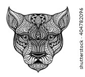 vector hand drawn head of the... | Shutterstock .eps vector #404782096